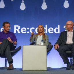 Gallery Thumbnail-11 Copyright 2018 Mike Sewell (tel: 07966 417114) Photograph by Mikey Sewell. Cyber Security Challenge UK - Cyber Re:coded - Day One. Panel discussion - You're Hired.