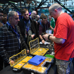 Gallery Thumbnail-4 Copyright 2018 Mike Sewell (tel: 07966 417114) Photograph by Mikey Sewell. Cyber Security Challenge UK - Cyber Re:coded - Day One. BT lock picking session.