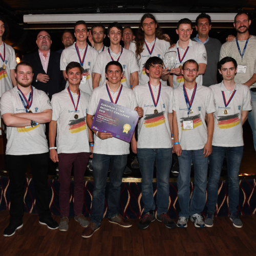 Gallery Thumbnail-1 Copyright 2018 Mike Sewell (tel: 07966 417114) Photograph by Mikey Sewell. Cyber Security Challenge UK - Cyber Re:coded - River Thames cruise and awards evening. Pictured are the European Cyber Security Challange 2018 winners, Team Germany.